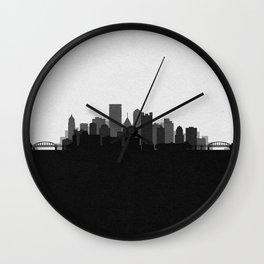 City Skylines: Pittsburgh (Alternative) Wall Clock