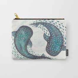 Whale Sharks in Pair Circling in the Ocean Carry-All Pouch
