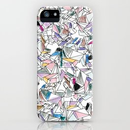 Geometricly Speaking iPhone Case