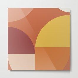 Geometric shapes terracotta II Metal Print
