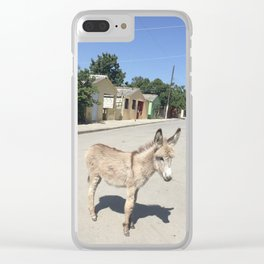 Lil' Donkey Clear iPhone Case