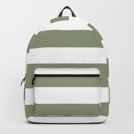 Artichoke - solid color - white stripes pattern Backpack