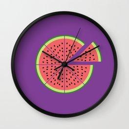 Watermelon Pizza Wall Clock