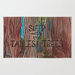 Sleep with the Tallest Trees Rug