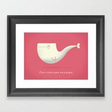 Pipe Whale Framed Art Print