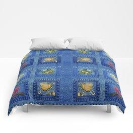 Denim Square Patches Comforters