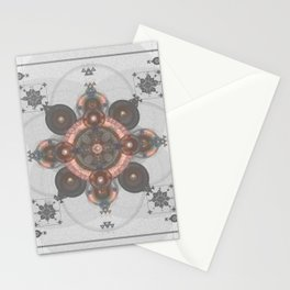 Passion Pearls Sacred Geometry Floral Cross Art Stationery Cards