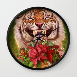 07. Christmas Tiger Wall Clock