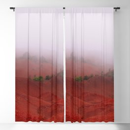 Red Land Blackout Curtain