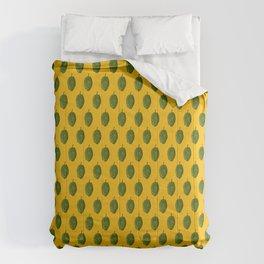 Hops Orange Pattern Comforters