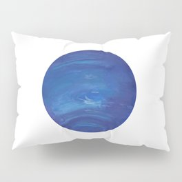 Neptune Gouache Watercolor Painting Pillow Sham