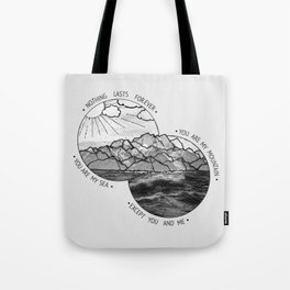 mountains-biffy clyro Tote Bag