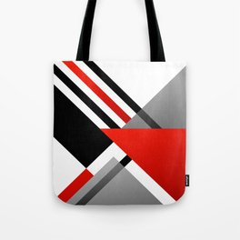 Sophisticated Ambiance - Silver & Passion Red Tote Bag