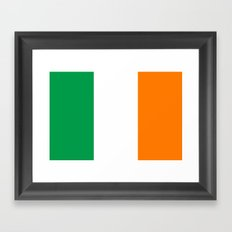 Flag of Ireland - High Quality Authentic Version Framed Art Print