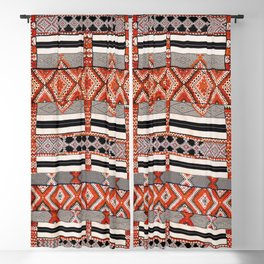 Ait Ouaouzguite South Morocco North African Rug Print Blackout Curtain