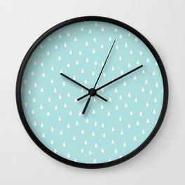 RAINDROPS DUCK EGG Wall Clock