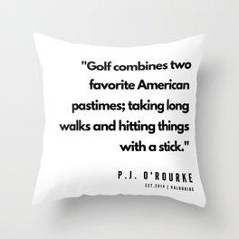 4    | Golf Quotes | 190606 Throw Pillow