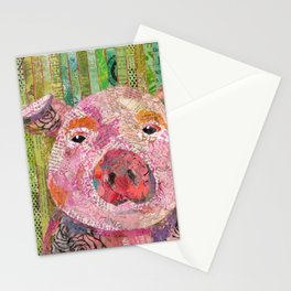Pink Pig Stationery Cards