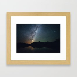 The core of the milky way Framed Art Print