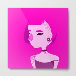 """Color Girl Series: """"Magenta"""" Metal Print"""