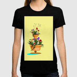 A Terra Cotta Planter with Many Flowers T-shirt