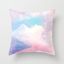 Cotton Candy Geometric Sky #homedecor #magical #lifestyle Throw Pillow