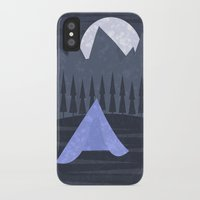 camping iPhone & iPod Cases featuring Camping by Imagonarium