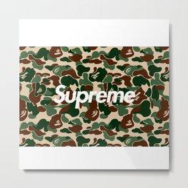 bape supreme Metal Print