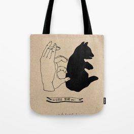 Hand-shadows Tote Bag