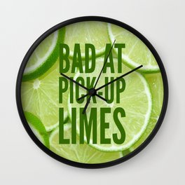 Pick Up Limes Wall Clock