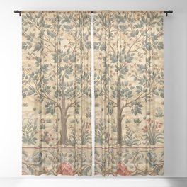 "William Morris ""Tree of life"" 3. Sheer Curtain"