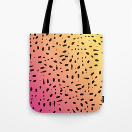Black Watercolor Spots on Gradient1 Tote Bag