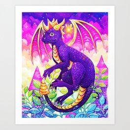 Purple Dragon Art Print