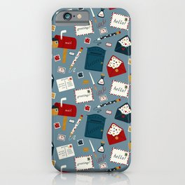 Postal Service Pattern iPhone Case