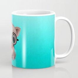 Cute Nerdy Pig Wearing Glasses and Bow Tie Coffee Mug