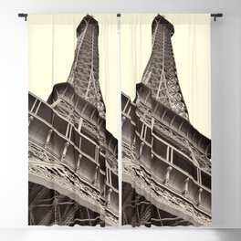 The famous Eiffel Tower in Paris, France in sepia. Vintage photography Blackout Curtain