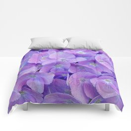 Hydrangea lilac Comforters