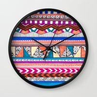 aqua Wall Clocks featuring AQUA by Vasare Nar