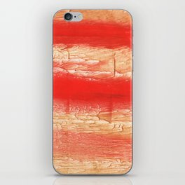 Burnt sienna abstract watercolor iPhone Skin