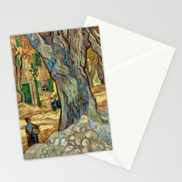 Vincent van Gogh - The Large Plane Trees (Road Menders at Saint-Rémy) 1889 Stationery Cards
