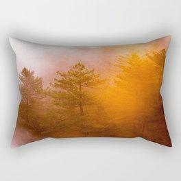 Golden Morning Glory Forest Rectangular Pillow