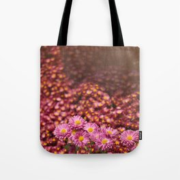 Colorful Pink Flowers Tote Bag