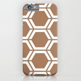 Café au lait - violet - Geometric Polygon Pattern iPhone Case