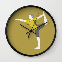 Wii Fit Trainer♂(Smash)Yellow Wall Clock