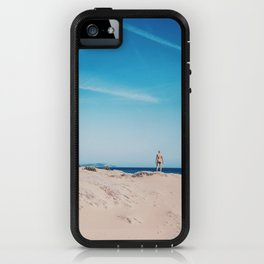 Alone in the sand iPhone Case