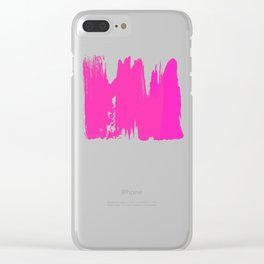 Pink Paint Layers Clear iPhone Case