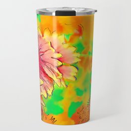 Fall Flowers In Soft Abstract Travel Mug