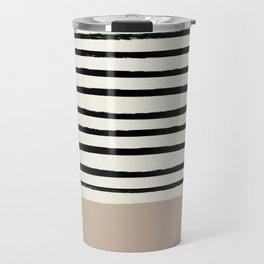 Latte & Stripes Travel Mug