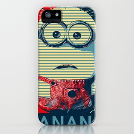 Minion banana iPhone Case