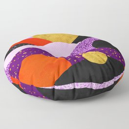 Terrazzo galaxy purple orange gold Floor Pillow